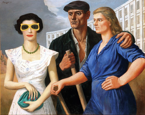 Wojcieh Fangor (Polen / Poland) Figures, 1950 100 x 125 cm Muzeum Sztuki/Museum of Art in Lodz Courtesy of Museum of Art in Lodz © Wojcieh Fangor